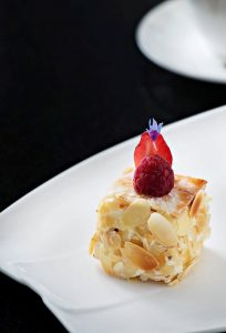 Mille-feuille aux trois cremes legeres, an over 45 years signature from Michel Lorain
