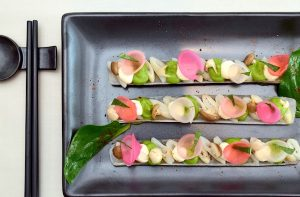 Razor clams in their gelee